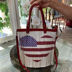 AMERICAN FLAG HOBO/CROSSBODY BAG